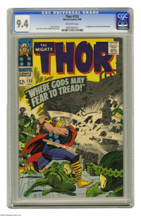 Thor #132 (Marvel, 1966) CGC NM 9.4 Off-white pages. First appearance of Ego (cameo last page). Jack Kirby and Vince Col...