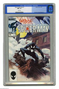 Web of Spider-Man #1 (Marvel, 1985) CGC NM+ 9.6 White pages. Painted cover by Charles Vess. Greg LaRocque art. This is t...