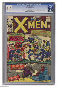 X-Men #9 (Marvel, 1965) CGC VF 8.0 Off-white to white pages. First meeting of the X-Men and the Avengers. First appearan...