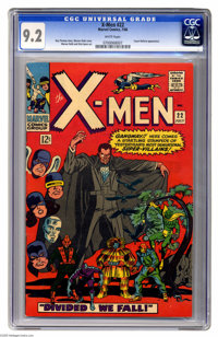 X-Men #22 (Marvel, 1966) CGC NM- 9.2 White pages. Count Nefaria appearance. Werner Roth cover art. Roth and Dick Ayers i...