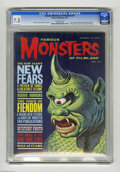 Silver Age (1956-1969):Horror, Famous Monsters of Filmland #27 (Warren, 1964) CGC VF- 7.5Off-white pages. Bela Lugosi and King Kong articles and photos.P...