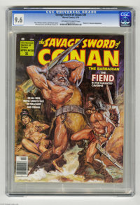 Savage Sword of Conan #28 (Marvel, 1978) CGC NM+ 9.6 Off-white to white pages. Robert E. Howard adaptation. Earl Norem c...