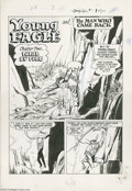 Original Comic Art:Splash Pages, John Belfi (attributed) - Young Eagle #4, page 13 Splash PageOriginal Art (Fawcett, 1950). The first page of the second cha...