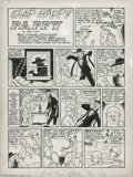 "Original Comic Art:Complete Story, Gill Fox - ""Cyclone Cupid and Slap Happy Pappy"" Complete 1-page Story Original Art, Group of 2 (Quality, 1940-1943).... (2 Original Art)"