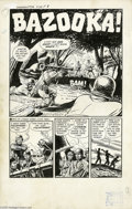 "Original Comic Art:Complete Story, Al Luster (attributed) - Warfront #34 Complete 5-page Story""Bazooka"" Original Art (Harvey, 1958). Al Luster uncorked plenty..."