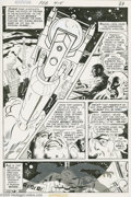 Original Comic Art:Panel Pages, Bob Oksner - Adventure Comics #415, page 1 Original Art (DC, 1972).A great silver missile hurtles toward the star-flecked s...