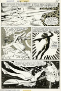 Original Comic Art:Panel Pages, Bob Oksner - Adventure Comics #415, page 3 Original Art (DC, 1972).With breathtaking speed, the Girl of Steel overtakes a h...