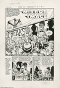 """Original Comic Art:Complete Story, Rudy Palais and John Sink - Tomb of Terror #15, Complete 5-page Story """"Mirror Image"""" Original Art (Harvey, 1954). Phil the c..."""