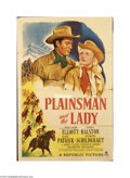 Movie Posters:Western, The Plainsman and the Lady (Republic, 1946)....