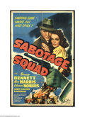 Movie Posters:War, Sabotage Squad (Columbia, 1942)....