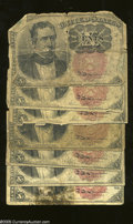 Fractional Currency:Fifth Issue, 10c Fifth Issue Seven Examples Good or Better.
