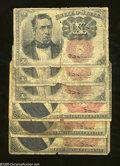 Fractional Currency:Fifth Issue, Two Different Fifth Issue Denominations.... (6 notes)