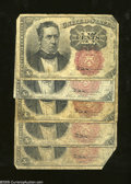 Fractional Currency:Fifth Issue, 10c Fifth Issue Five Examples Very Good or Better Part II.... (5notes)