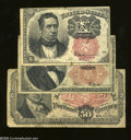 Fractional Currency:Fifth Issue, Three Fifth Issues.... (3 notes)