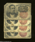 Fractional Currency:Fifth Issue, 10c Fifth Issue Four Examples Very Good or Better.... (4 notes)
