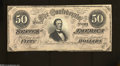 Confederate Notes:1864 Issues, T66 $50 1864. This 1st Series $50 has a fold near the ...