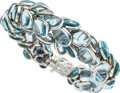 Estate Jewelry:Bracelets, Blue Topaz, White Gold Bracelet, Seaman Schepps. ...