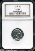 "Proof Buffalo Nickels: , 1937 5C PR 66 NGC. The current Coin Dealer Newsletter (Greysheet)wholesale ""bid"" price is $800.00...."