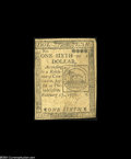 Colonial Notes:Continental Congress Issues, Continental Currency February 17, 1776 $1/6 Very Fine....