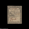 Colonial Notes:Continental Congress Issues, Continental Currency February 17, 1776 $2/3 About New....