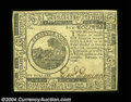 Colonial Notes:Continental Congress Issues, Continental Currency February 17, 1776 $6 Gem New. Crisp, ...