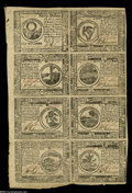 Colonial Notes:Continental Congress Issues, Continental Currency February 26, 1777 Half Sheet of EightExtremely Fine....