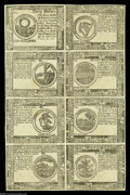 Colonial Notes:Continental Congress Issues, Continental Currency February 26, 1777 Half Sheet of Eight BlueCounterfeit Detectors About New....