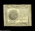 Colonial Notes:Continental Congress Issues, Continental Currency September 26, 1778 $7 Counterfeit DetectorChoice New....