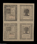 Colonial Notes:Delaware, Delaware January 1, 1776 Block of Four Superb Gem New....