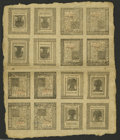 Colonial Notes:Delaware, Delaware January 1, 1776 Double Sheet of Sixteen....