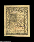 Colonial Notes:Delaware, Delaware January 1, 1776 5s Superb Gem New....
