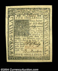 Colonial Notes:Delaware, Delaware January 1, 1776 5s Gem New. Beautifully margined ...