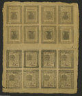 Colonial Notes:Delaware, Delaware May 1, 1777 Double Sheet of Sixteen....