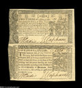Colonial Notes:Maryland, Maryland April 10, 1774 Vertical Pair....