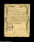 Colonial Notes:Massachusetts, Massachusetts August 18, 1775 2s Very Fine-Extremely Fine....