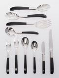 Silver Flatware, American, Lunt Silversmiths (American). Forty-Nine Piece Lunt ContrastPattern Flatware Set, designed 1956. Silver, nylon, stainle...(Total: 49 Items)