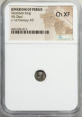 Ancients:Oriental, Ancients: PERSIS KINGDOM. Uncertain king (ca. 1st century AD). AR obol (9mm). NGC Choice XF....