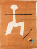 Textiles, After Joan Miró (Spanish, 1893-1983). Circus, 1965. Wool. 77-1/4 x 58 inches (196.2 x 147.3 cm). Embroidered J. MIRO ...