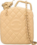 "Luxury Accessories:Bags, Chanel Gold Quilted Lambskin Leather Gas Can Bag. Condition: 1. 9"" Width x 12"" Height x 4.5"" Depth. ..."