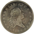 Early Half Dollars: , 1794 50C --Plugged, Whizzed--ANACS. VG10 Details. O-101a, R.4.Nicely detailed for the grade with moderate, even wear and a ...
