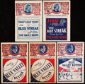 Baseball Collectibles:Programs, 1927-35 Detroit Tigers vs. Chicago White Sox Scorecard Lot of 5 with One Ticket Stub.... (Total: 5 items)
