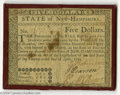 Colonial Notes:New Hampshire, New Hampshire April 29, 1780 $5 Very Fine....
