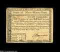 Colonial Notes:New Hampshire, New Hampshire April 29, 1780 $8 Very Fine-Extremely Fine....