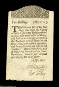 Colonial Notes:New York, New York May 31, 1709 10s Choice About New....