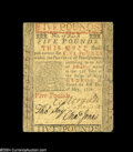 Colonial Notes:Pennsylvania, Pennsylvania May 1, 1760 $5 Very Fine....