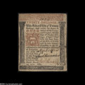 Colonial Notes:Pennsylvania, Pennsylvania March 20, 1771 20s Very Fine-Extremely Fine....