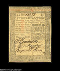 Colonial Notes:Pennsylvania, October 1, 1773, 20s, Pennsylvania, PA-169, AU. A light ...