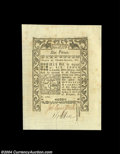 Colonial Notes:Rhode Island, Rhode Island May, 1786 6d Superb Gem New....