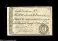 Colonial Notes:South Carolina, South Carolina November 15, 1775 20s Extremely Fine....