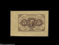 Fractional Currency:First Issue, Fr. 1231SP 5c First Issue Face Only Superb Gem New....